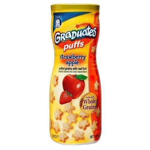 Bánh sao ăn dặm Táo dâu Gerber Graduates Puffs Strawberry Apple , 1.48 oz