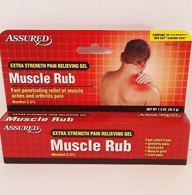 Kem xoa giảm đau cơ Assured @ MUSCLE RUB Extra Strength Pain Relieving Gel @ 4x 1.5oz/42.5g