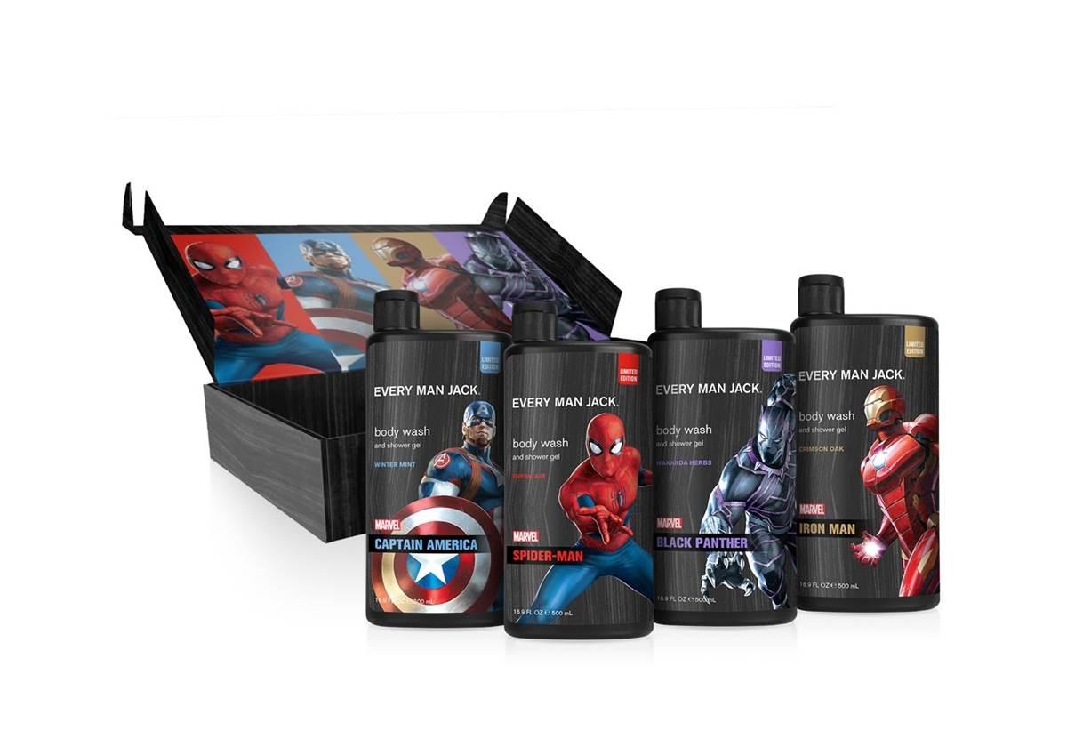 Dầu gội xả tắm 3 trong 1 – Superhero 3-in-1 Body Wash, 14oz, Assortment of Spider-man, Ironman, Batman 414 ml
